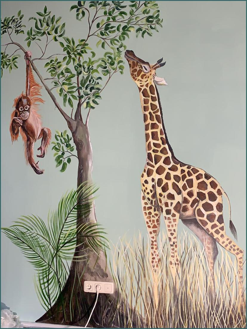 tijger muurschildering